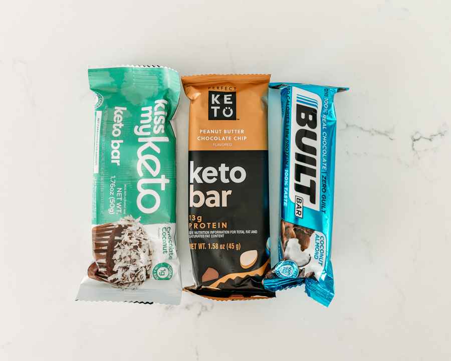 Assortment of healthy protein bar options