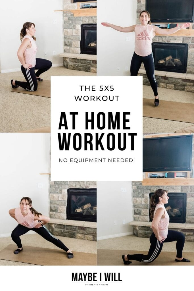 This is a very quick and efficient at-home workout. With only five moves, completed five times with absolutely no equipment needed and can be done anywhere!