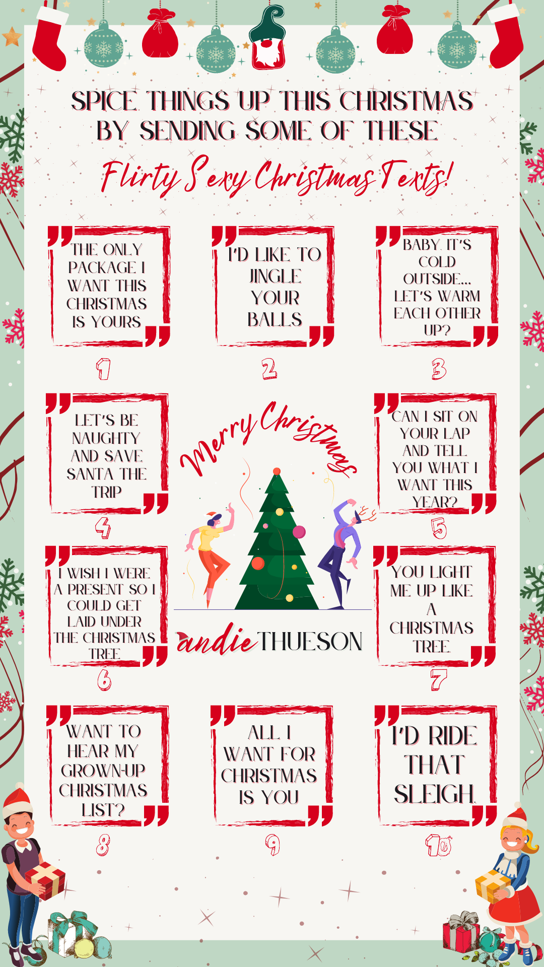 Sexy Christmas Inspired Texts To Send Your Significant Other